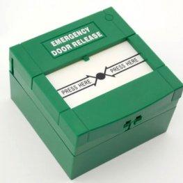 Авариен бутон за изход, зелен