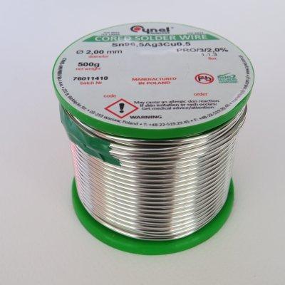 Безоловен тинол със сребро 2 мм 500 гр.